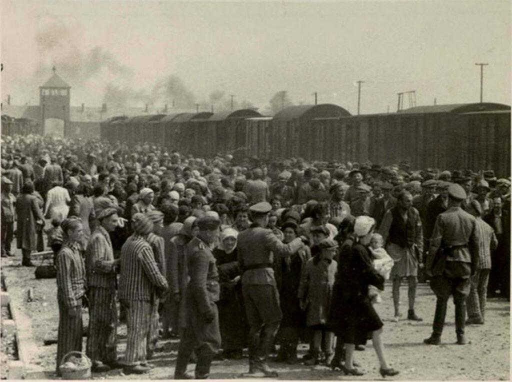 File:Selection on the ramp at Auschwitz-Birkenau, 1944 (Auschwitz Album) 1c.jpg